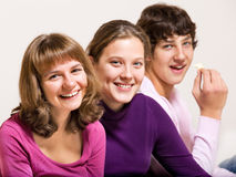Three teenage freinds Royalty Free Stock Photo