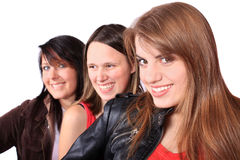Three teenage girls Royalty Free Stock Images