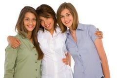 Three teenage girls Stock Image