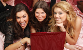 Three teenage girls having fun Stock Photo