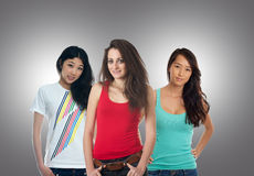 Three teenage girls Stock Photo