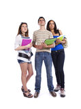 Three teenage studens Royalty Free Stock Photo