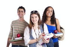 Three teenage studens Royalty Free Stock Image