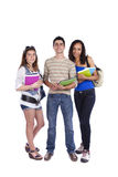 Three teenage studens Royalty Free Stock Images