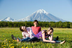 Three teenager Stock Images