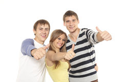 Three teenagers Stock Photos