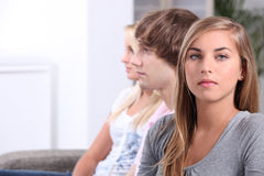 Three teenagers Royalty Free Stock Photo