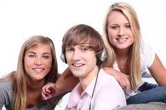 Three teenagers Stock Photography