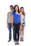Three teenagers friends Stock Photos