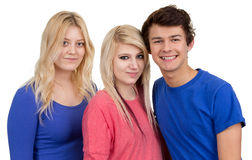 Three teenagers together Royalty Free Stock Image
