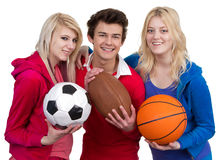 Three teenagers together Stock Photography