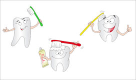 Free Three Teeth Royalty Free Stock Photos - 12709398