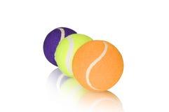 Three tennis balls Stock Photo