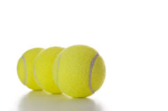 Three tennis balls Stock Photos