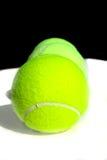 Three Tennis Balls. In a line stock photo