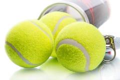 Three tennis balls Stock Images