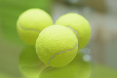 Three tennis balls Royalty Free Stock Photography