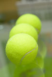 Three tennis balls Royalty Free Stock Photos