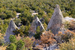 Three tent rocks Royalty Free Stock Photos