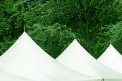 Three tent roofs. At an event Stock Images