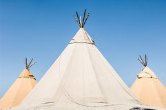 Three tents Royalty Free Stock Image