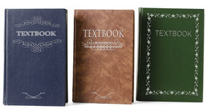 Three textbooks Stock Images