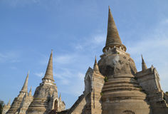 Three Thailand Pagoda. Thailand ancient pagoda in Ayutthaya Royalty Free Stock Images