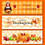 Three Thanksgiving banners. Stock Photography