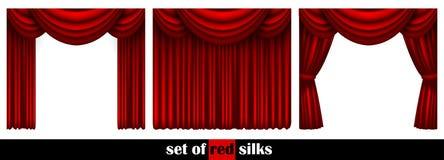 Three theater curtain Stock Photos