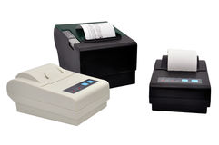 Three  thermal printer Stock Images