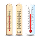 Three thermometer. temperature measuring instrument Stock Photos