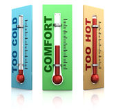 Three thermometers Stock Photography