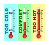 Three thermometers  Stock Photo