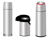 Three thermos Royalty Free Stock Image