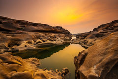 Three Thousand. The Amazing of Rock,Natural of Rock Canyon in Khong River after the water come down in Summer,Three Thousand Hole,Ubonratchathanee Province,North Stock Photography