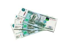 Three thousands rubles banknotes Stock Images