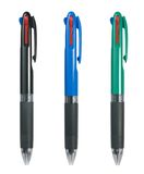 Three three-coloured pens Stock Image
