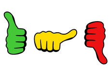 Three thumbs icon Stock Image