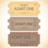 Three tickets. Royalty Free Stock Image