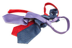 Three tie knotted Royalty Free Stock Image