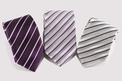 Three tie. On white background Stock Image