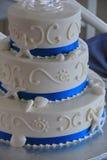 Three-tier, beach themed, wedding cake Stock Images