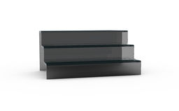 Three tier with black glass of display stand Royalty Free Stock Images