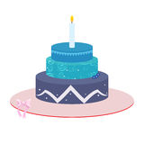 Three tier Cake illustration Stock Image