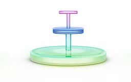 Three tier of color glass stand Royalty Free Stock Photography