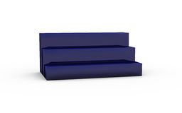Three tier with deep blue glass of display stand Royalty Free Stock Photography