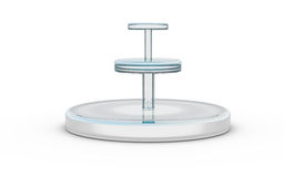 Three tier of round glass stand Royalty Free Stock Images