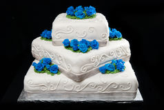 Three-Tier Wedding Cake Royalty Free Stock Photos