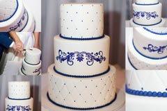 Three-Tier Wedding Cake Stock Photos