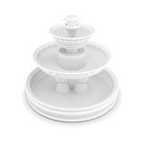 Three-tiered fountain on a white background. 3d rendering Stock Image